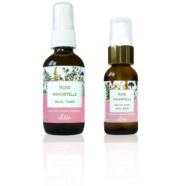 Rose Immortelle Healthy Aging Facial Serum & Facial Toner Set ($5 discount)