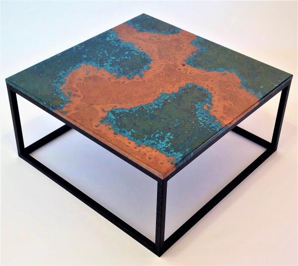 Coffee Table Patina Copper