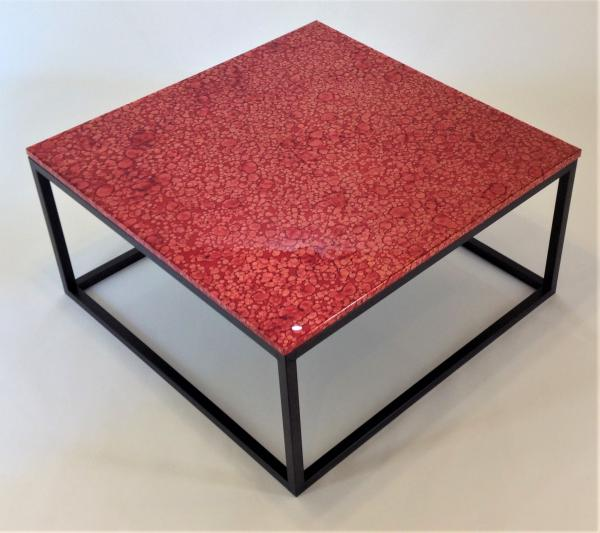 Red Copper Topped Coffee Table