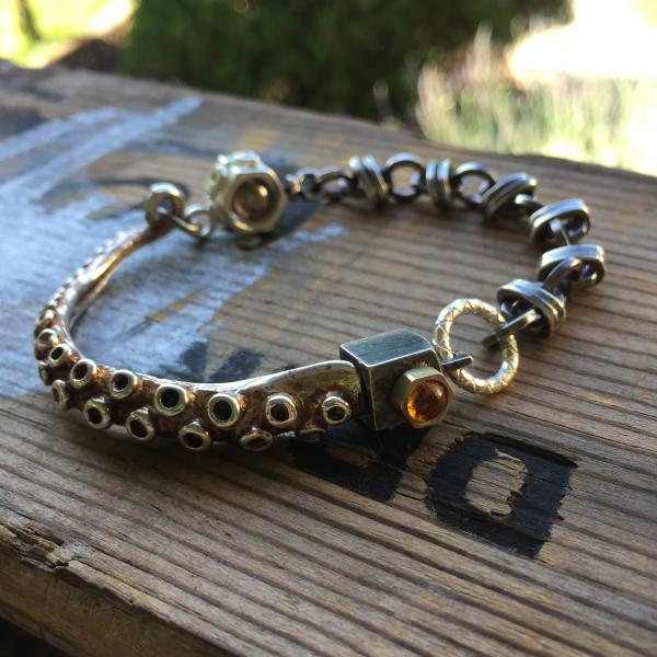 Octopus Tentacle Bracelet with Citrine