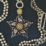 Filigree Star Necklace with Opal