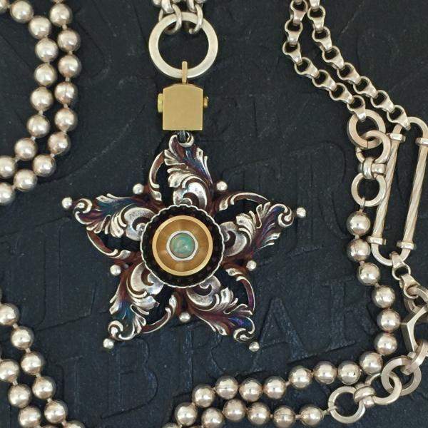 Filigree Star Necklace with Opal picture