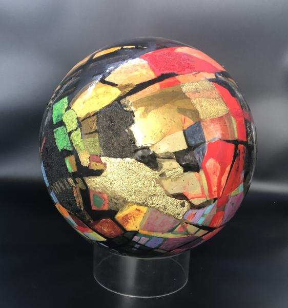 "Large 12"" Diameter Abstract Sphere"
