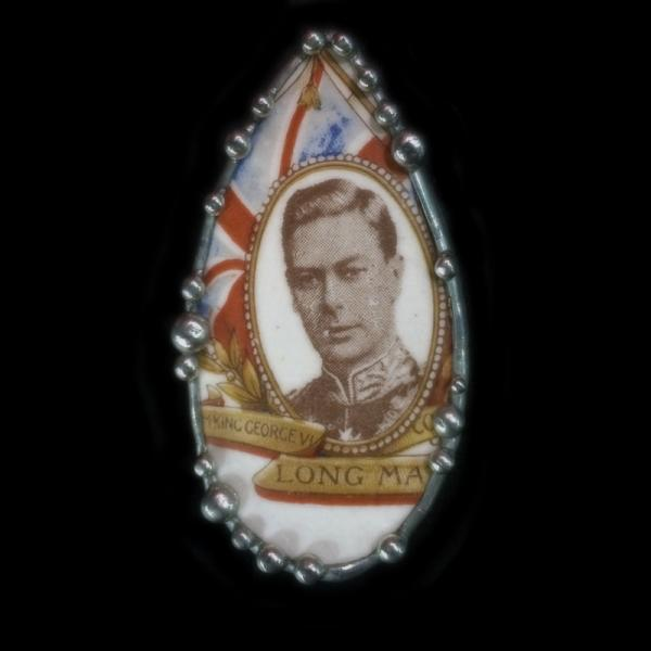 1937 English Coronation Cup Shard Pin/Pendant