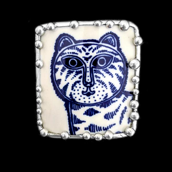 Contemporary Tiger Cup Shard Pin/Pendant