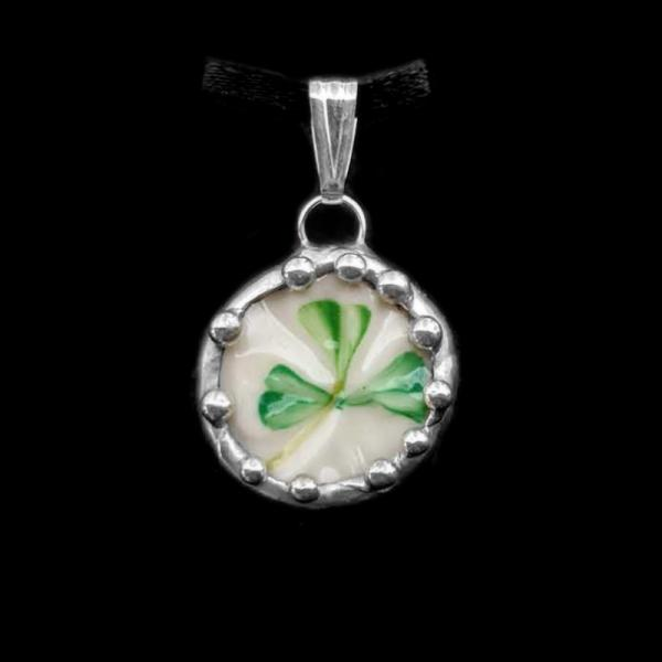 Vintage Irish Belleek Shard Pendant