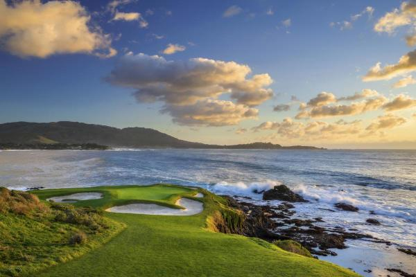 Pebble Beach Golf Links #07_Evening Glow_California