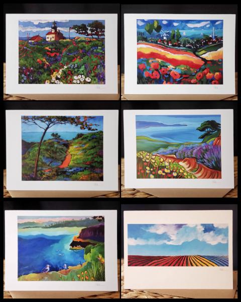 "6 card set ""Local Color"" (scenes of San Diego)"