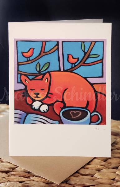 """The Cat Pack"" 11 card set picture"