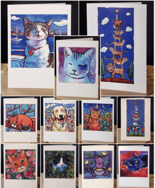 """The Cat Pack"" 11 card set"