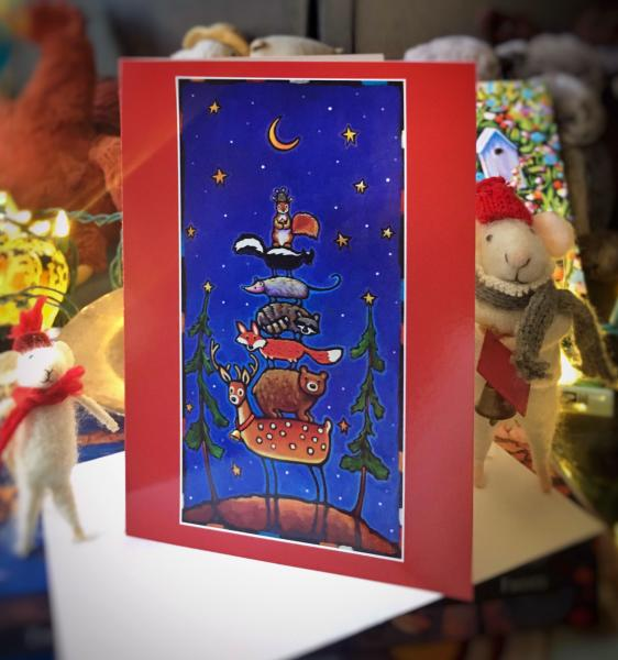 "Set of 10 ""Happy Holidays"" 5x7 Holiday Cards"