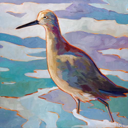 """Willet"" stretched (unframed) gicleé canvas print"
