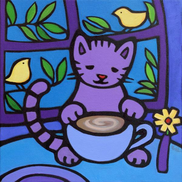 "8x8"" stretched gicleé canvas print ""Cafe Latte"""