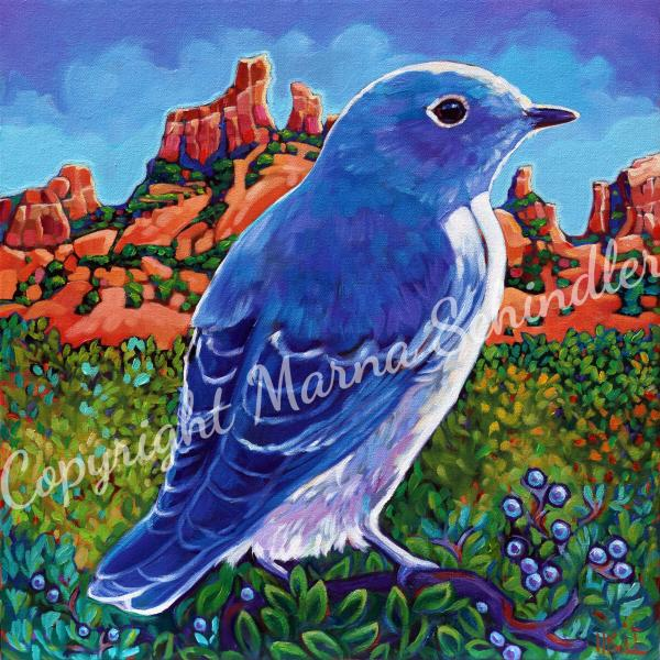 "8x8"" stretched gicleé canvas print ""Sedona Blue"""