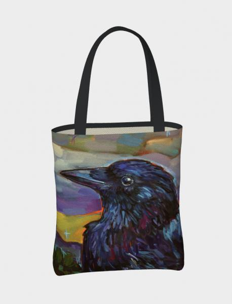 """Cat the Raven"" printed tote"