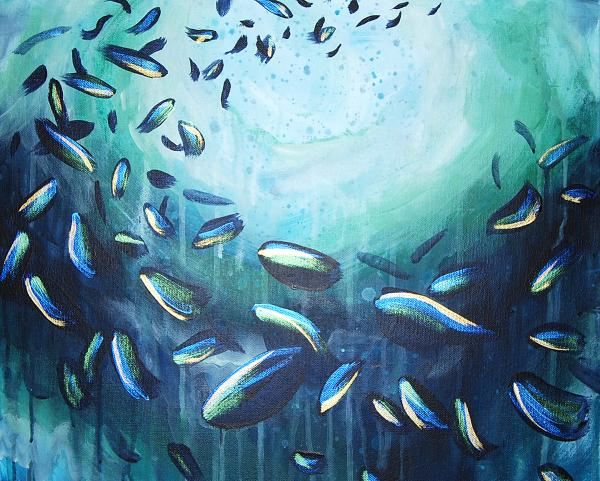 School of Fish 16x20""