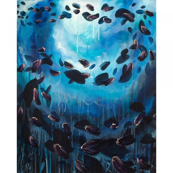 School of Fish 24x20""