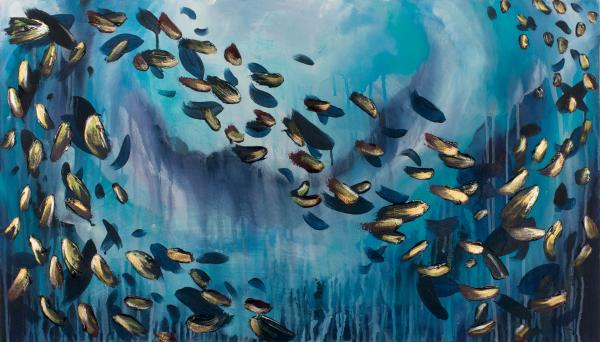 School of Fish 24x42""