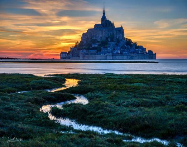 MT. ST. MICHEL AT DUSK