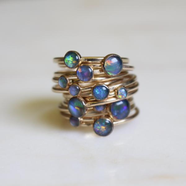 Opal stacking ring-14k GOLD FILLED