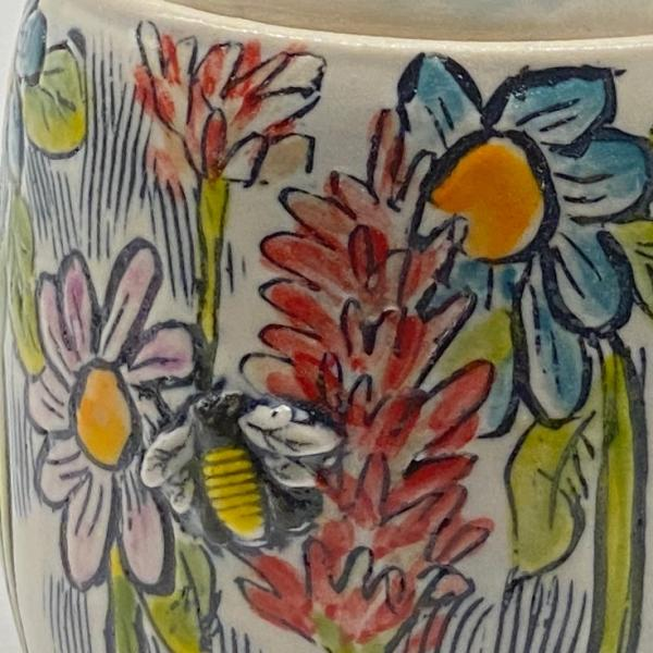 Tulips and Bees Honey Pot picture