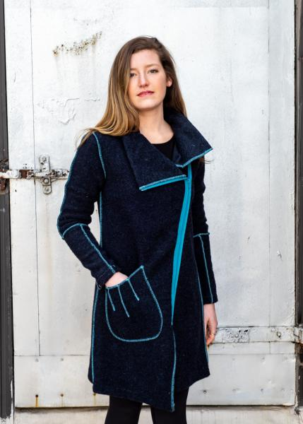 Georgy Navy Wool
