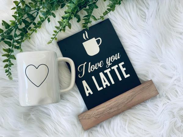 Love You A Latte Board and Base picture