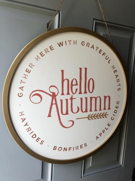 Hello Autumn Door Hanger picture