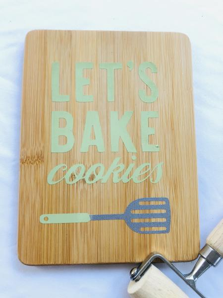 Let's Bake Cookies Cutting Board