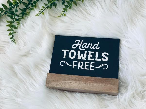 Free Hand Towels Board and Base