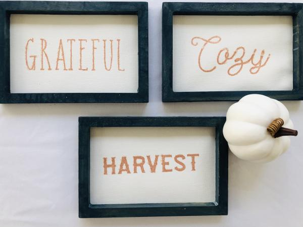 Harvest Mini Canvases Set of 3