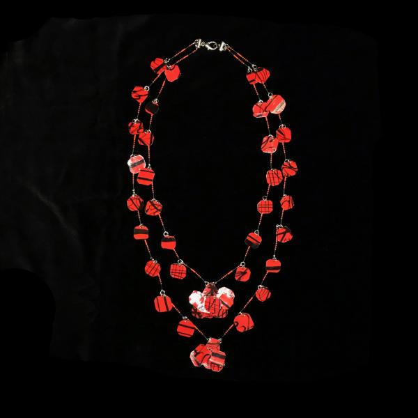 Scarlet Waterfall Necklace