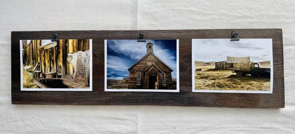 Reclaimed Barnwood photo display