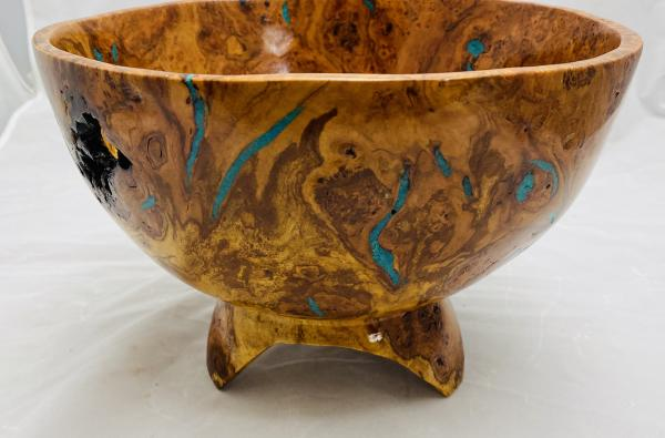 Footed Cherry Burl Bowl