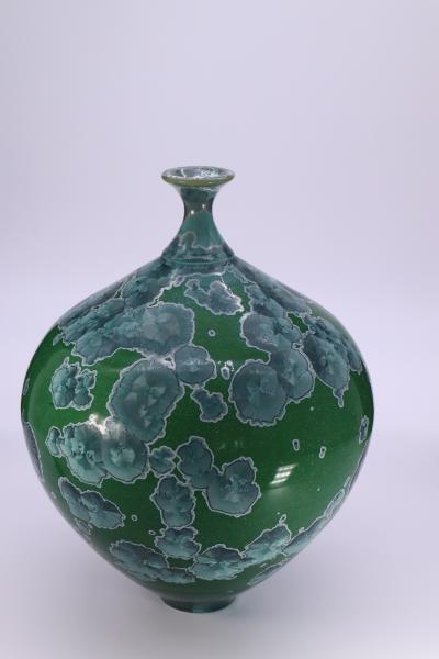 Crystalline Glazed Bottle