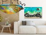 Floravita Painted Chandeliers & Fine Art