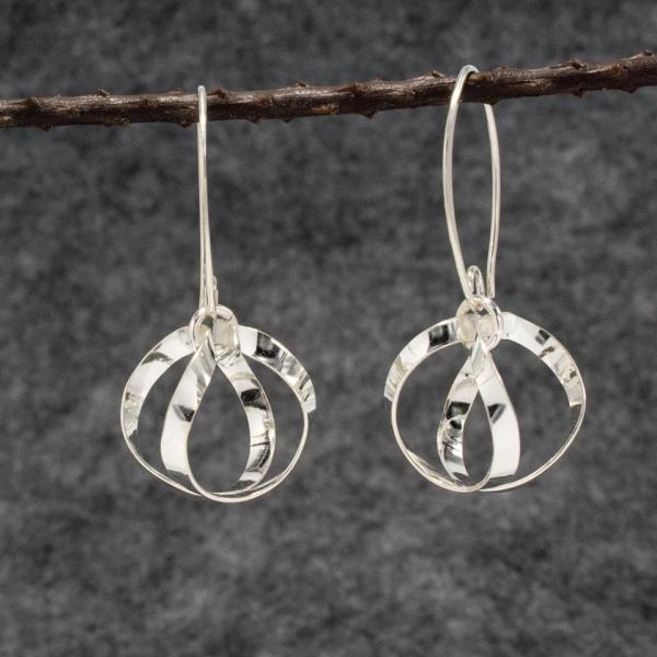 Dew Drops Silver Earrings | High Polished Sterling Silver | Sterling Silver Marquise Ear Wire