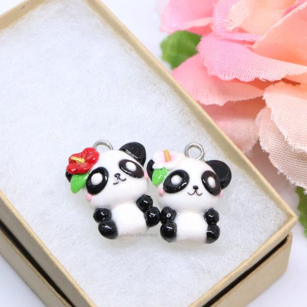 Panda with Flower Charm