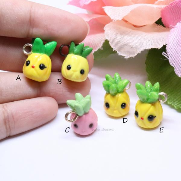 Assorted Pineapple Charms