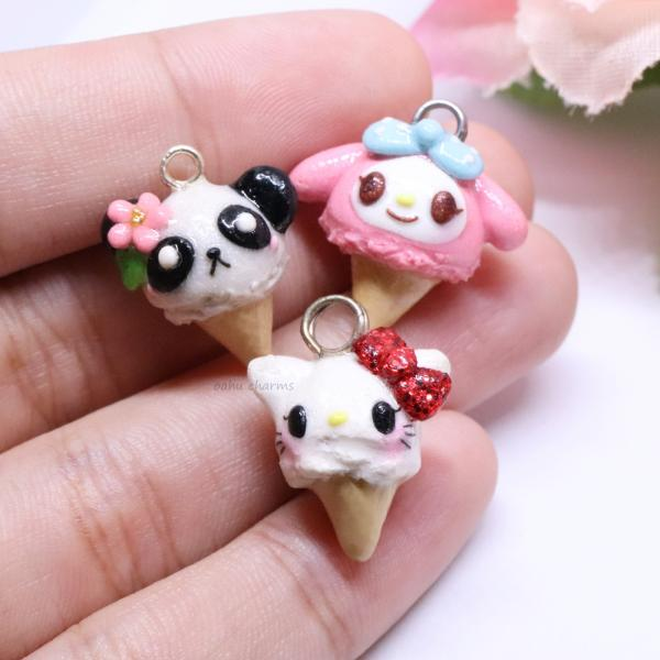 Assorted Ice Cream Charms