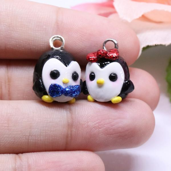 Penguin with Bow Charm