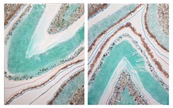 Resin Seascape - Set of 2