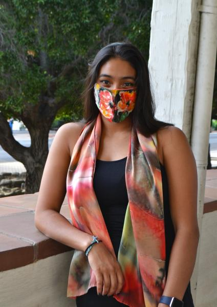Red Abstract scarf