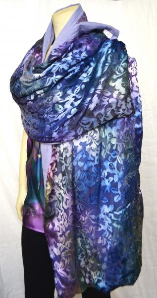 Purple Silk Wool Scarf picture