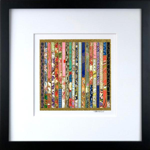 "Order - 12.5"" x 12.5"" Framed, Matted Washi Mosaic picture"