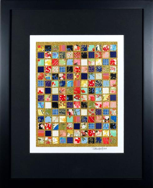 "Family - 11""x14"" Framed, Matted Washi Mosaic"