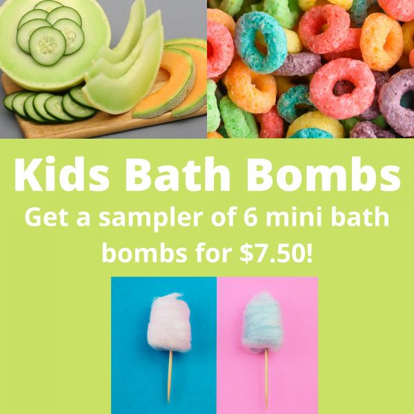 Sweet Tooth Mini Bath Bombs Set, Bath Bombs for Kids, Holiday/Christmas Gifts, Stocking Stuffers