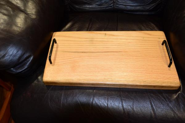 oak serving tray picture