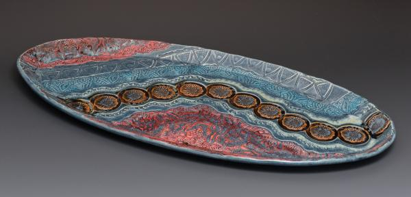 Long Beveled Oval Platter picture
