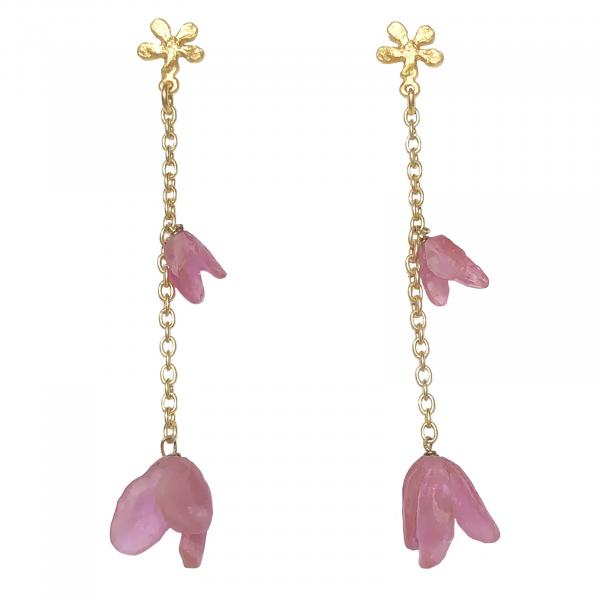 Michael Michaud Apple Blossom Earrings